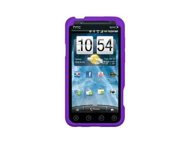 Luxmo Purple HTC EVO 3D Gel Skin Case Cover 885926029959