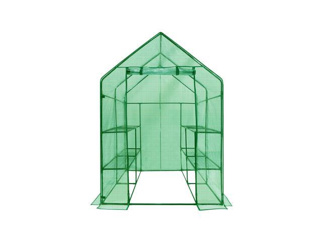 Ogrow Deluxe WALK-IN 2 Tier 8 Shelf Portable Lawn and Garden Greenhouse - Heavy Duty Cover ?