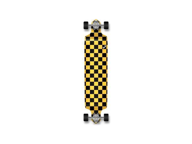 Yellow Punked Drop Down Checker Longboard Complete