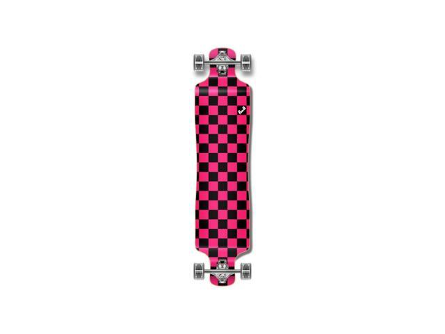 Pink Punked Lowrider Checker Longboard Complete