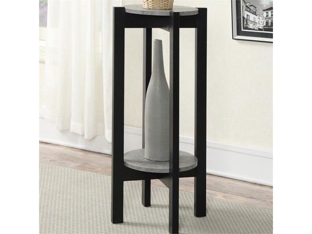 Convenience Concepts Newport Deluxe Plant Stand in Black