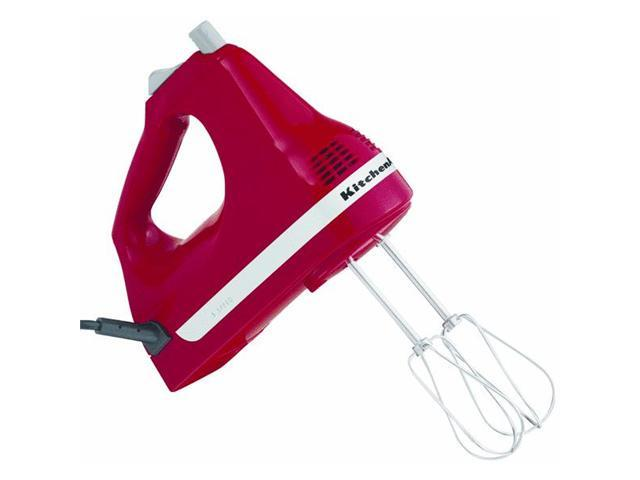 KitchenAid KHM5APER 5-Speed Slide Control Ultra Power Hand Mixer Empire Red