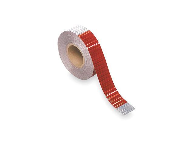 Grote Reflective Tape, 7 In Silver/11 In Red 41160