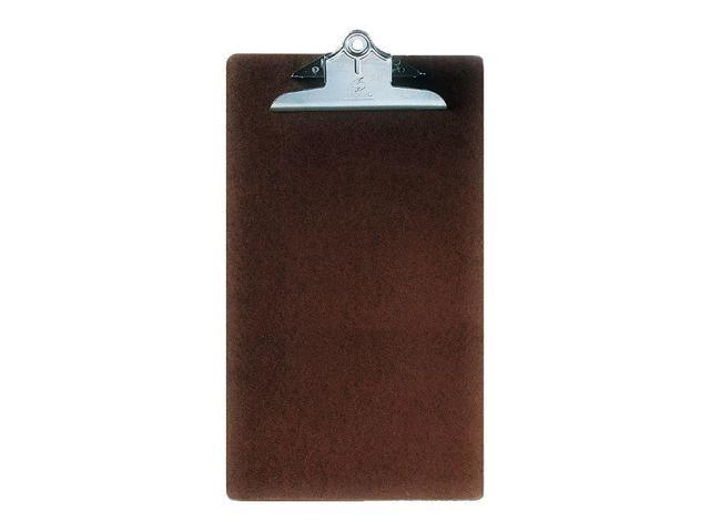 Ability One Legal-Size Clipboard with Butterfly Clip, Hardboard, Brown