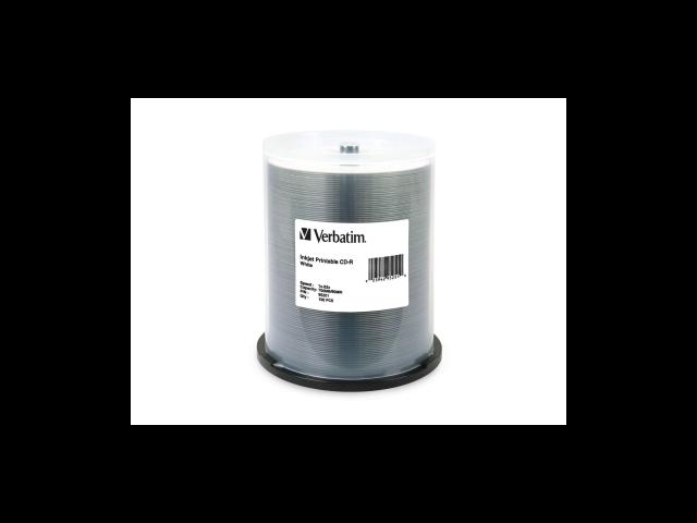 Verbatim CD-R 700MB 52X White Inkjet Printable - 100pk Spindle