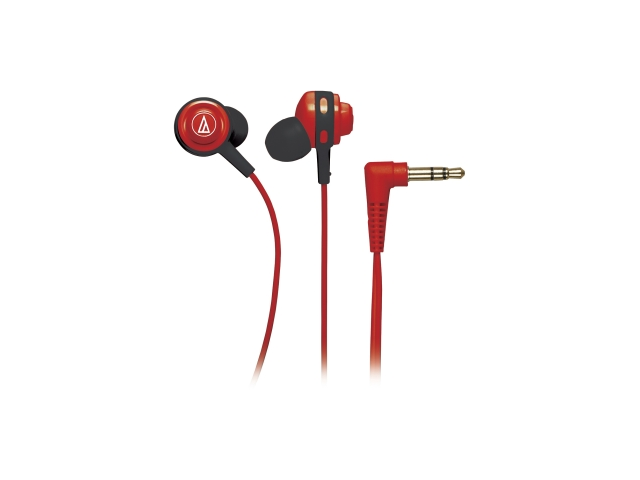 Audio-Technica ATH-COR150 Core Bass In-Ear Headphones - Red