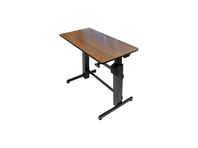 Ergotron WorkFit-D, Sit-Stand Desk (Walnut Surface)