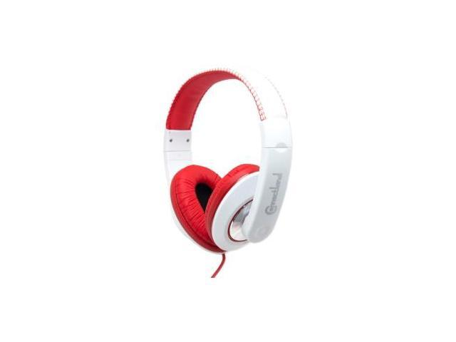 SYBA Red/White CL-AUD63080 3.5mm Connector Binaural Headphone
