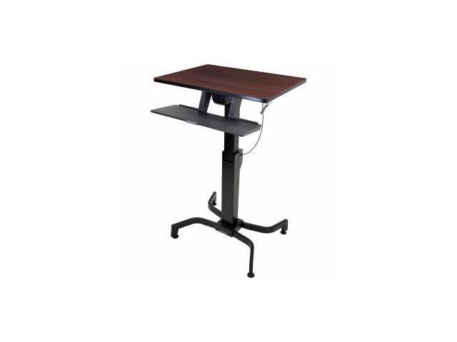 Ergotron WorkFit-PD, Sit-Stand Desk (Walnut)