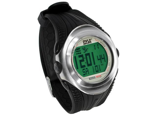 PylePro - Digital Heart Rate Monitor Watch With Chronograph, Pulse, And Pedometer
