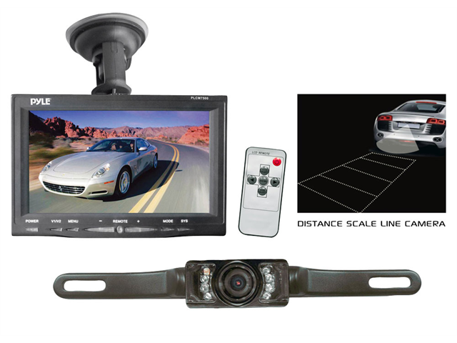 Pyle PLCM7500 7-Inch Window Suction Mount TFT/LCD Video Monitor