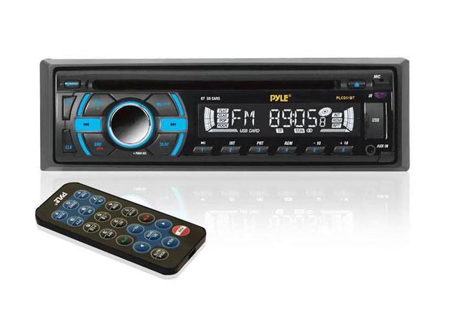 In-Dash Bluetooth Receiver with USB/SD Memory Slots, AUX Input for MP3 Playback & AM/FM Radio