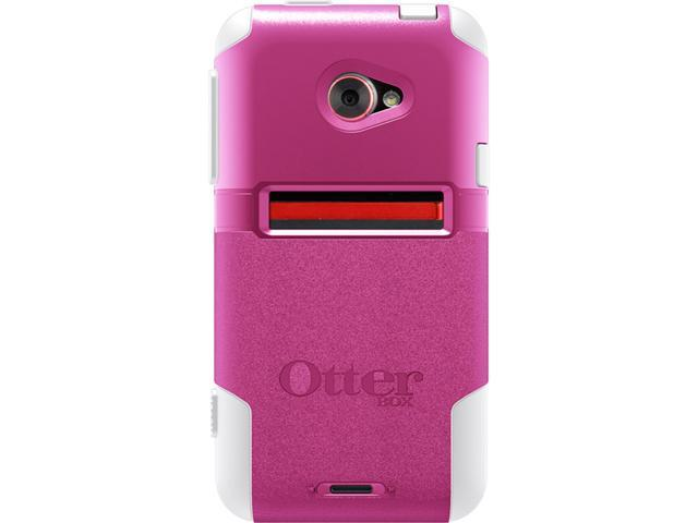 Otterbox 77-20042 Commuter Series Case for HTC Evo 4G LTE (2012 Release) Retail Packaging - Pink and White