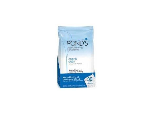 Pond's Clean Sweep Towelettes, Wet Cleansing, Original Clean, 30 ct.