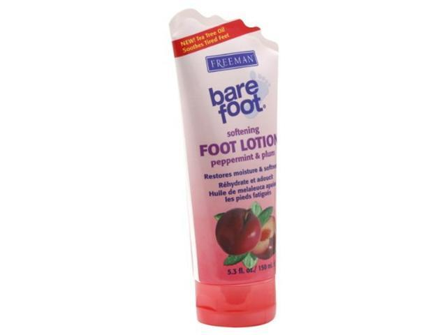 Freeman Bare Foot Foot Lotion, Softening, Peppermint & Plum, 5.3 oz.