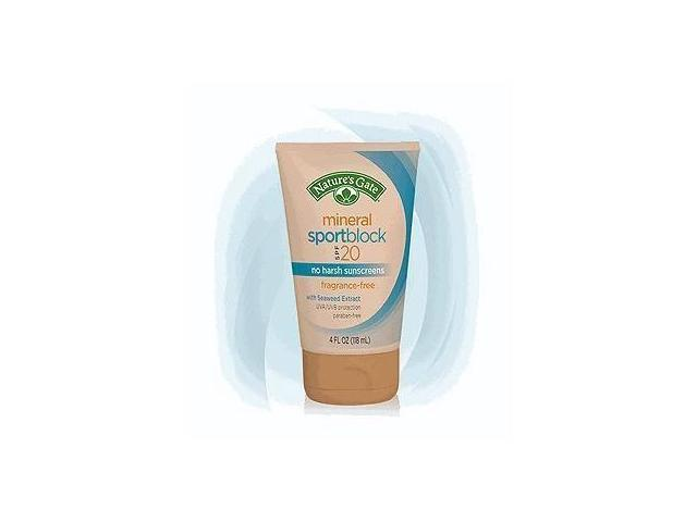 Mineral SportBlock SPF 20 - Nature's Gate - 4 oz - Lotion
