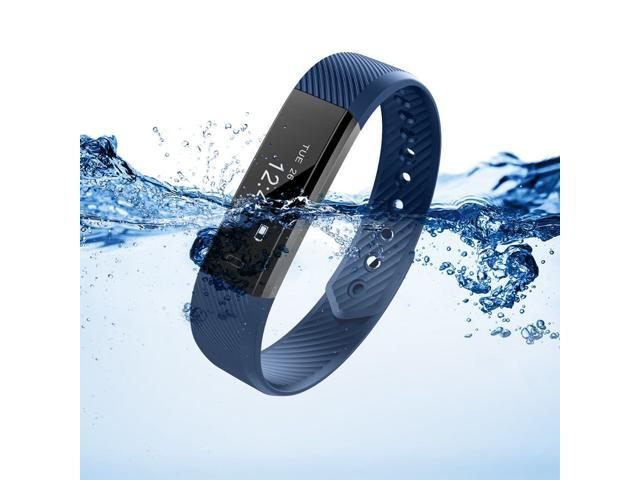 Smart Bluetooth Wristband Pedometer Smart Bracelet Sleep Monitor, Waterproof Activity Tracker Watch with Replacement Band for Android & IOS