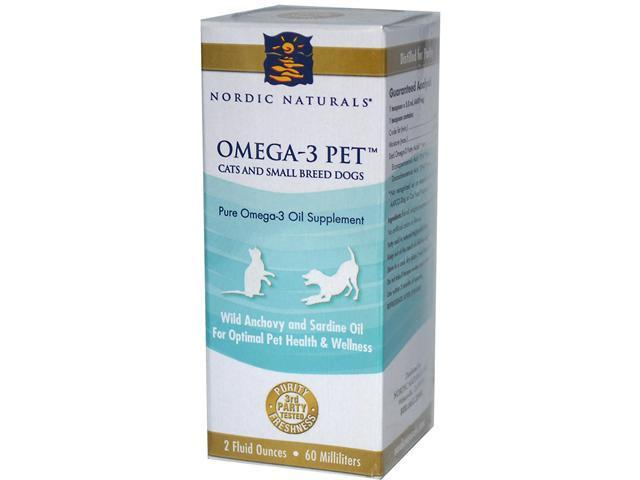 Omega 3 pet liquid fish oil cats and small breed dogs 2 for Nordic naturals fish oil for dogs