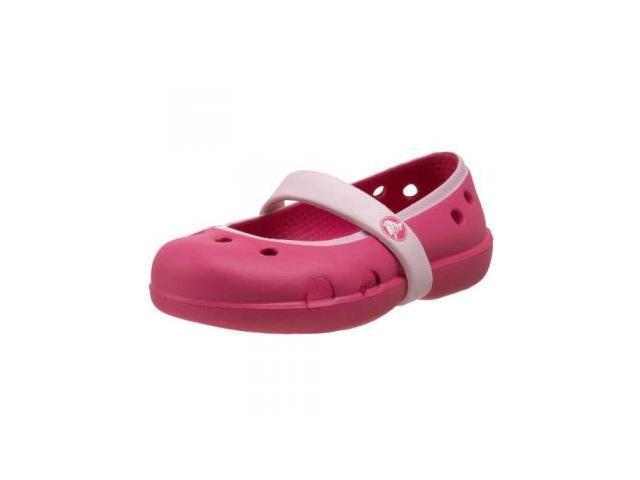 Crocs Keeley Mary Jane (Toddler/Little Kid),Fuchsia/Bubblegum