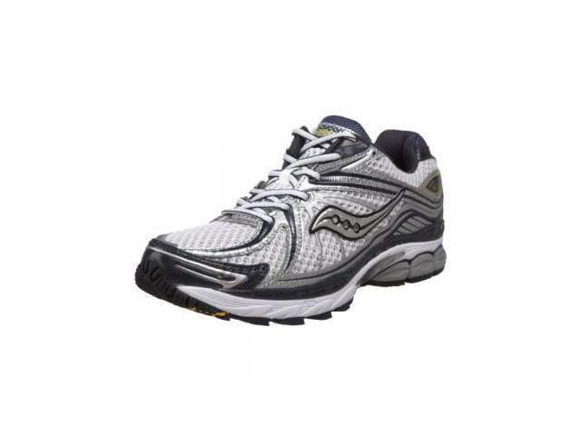 Saucony Men's ProGrid Hurricane 12 Running Shoe,White/Silver/Blue,9 W US