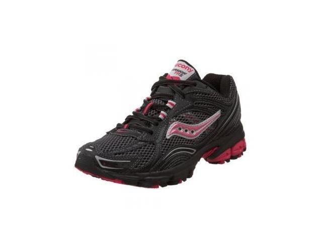 Saucony Women's Grid Excursion TR 5 Trail Running Shoe,Black/Grey/Pink,9 M US