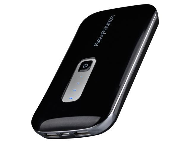 RAVPower RP-PB04 10000mAh 3A Lithium Polymer External Battery Power Bank for iPad, iPhone, Samsung Galaxy, Note, HTC One (M8), Google Nexus, Moto X and other Mobile Devices