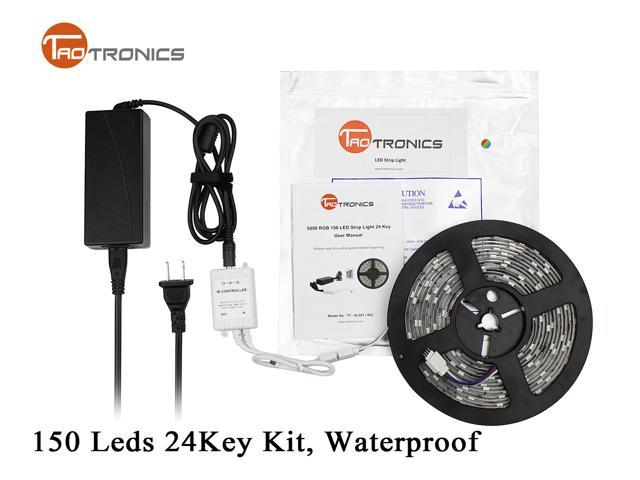 TaoTronics TT-SL001 5M 5050 RGB 150 LED Strip Light Waterproof IR Remote Control US Version