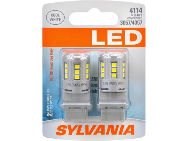 2-PK SYLVANIA 4114 White LED Automotive Bulb