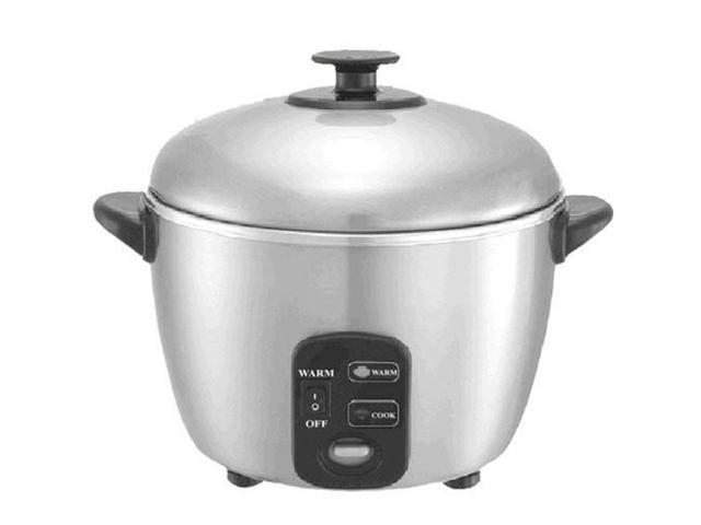 3 Cups Stainless Steel Rice Cooker And Steamer By Sunpentown