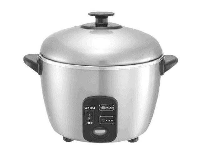 10 Cups Stainless Steed Rice Cooker  Steamer By Sunpentown