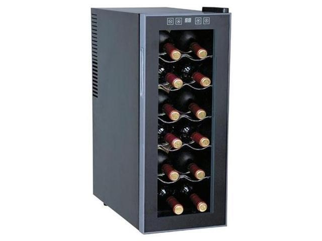 12-Bottle Slim Wine  Beverage Cooler (Semiconductor) By Sunpentown