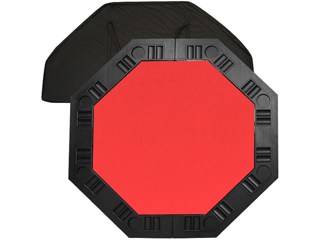 8 Player Octagonal Table top - Red - 48 inch