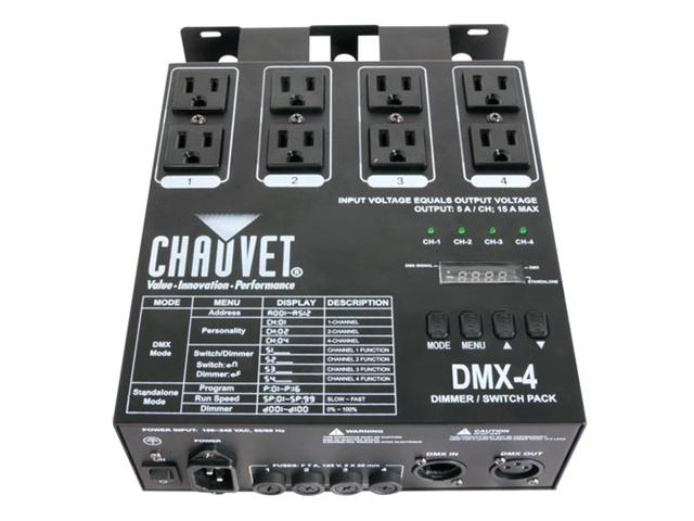 Chauvet DMX-4 Four Ch. DMX Switch/Dimmer Pack DMX Power Pack