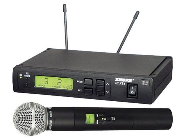 Shure ULXS-2458 UHF Wireless Mic System With SM58 UHF Handheld Wireless Mic System