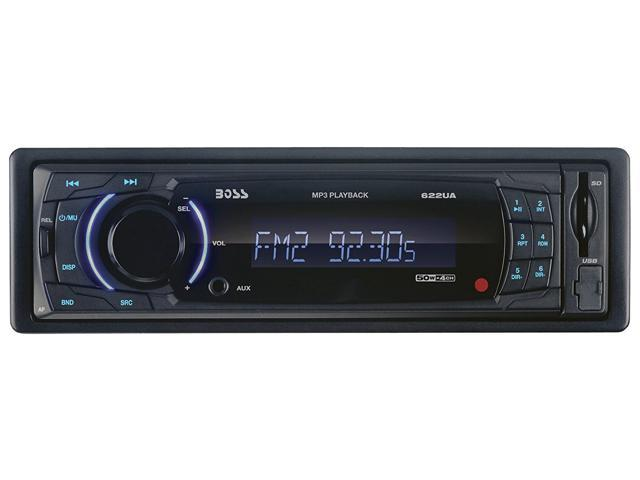 BOSS AUDIO 622UA Single-DIN MECH-LESS Receiver, Detachable Front Panel
