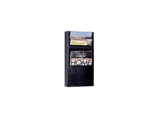 """5 Pocket Literature Display Rack, 9-3/4""""x4""""x20-3/8"""", Putty"""