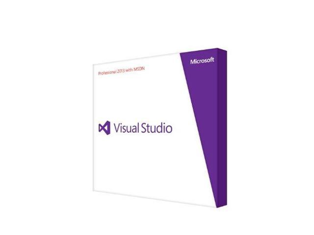 Visual Studio Pro W/ Msdn Retail 2013 Programs Dvd