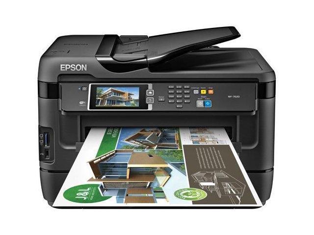 EPSON WorkForce WF-7620 ISO Print Speed: 18 ISO ppm 2-Sided ISO Print Speed: 8.7 ISO ppm Black Print Speed Wireless (802.11 b/g/n) Wi-Fi Direct InkJet Color Inkjet Printer