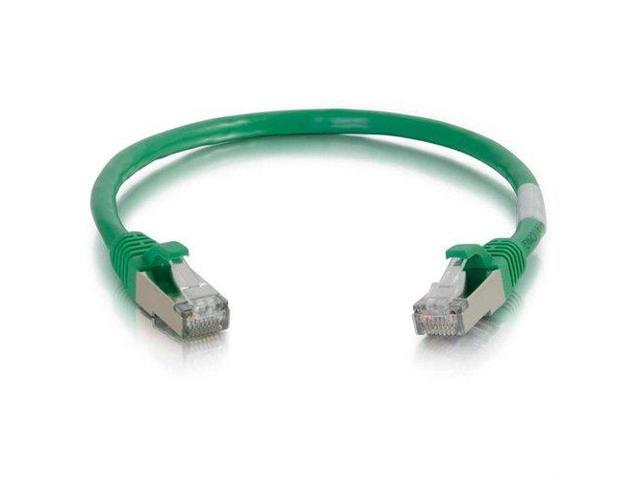 C2G 15FT CAT6 SNAGLESS SHIELDED (STP) NETWORK PATCH CABLE - GREEN