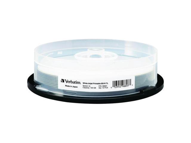 Verbatim Blu-ray Recordable Media - BD-R - 4x - 100 GB - 10 Pack Spindle