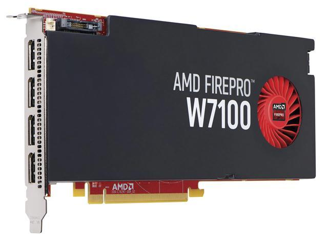 HP FirePro W7100 J3G93AT 8GB 256-bit GDDR5 PCI Express 3.0 x16 Plug-in Card Workstation Video Card
