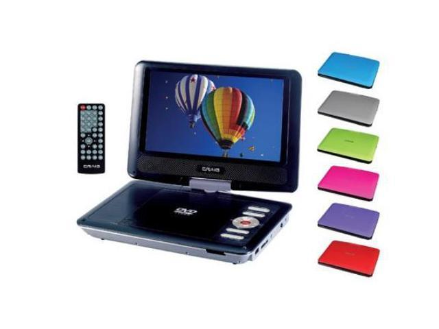 Craig 7-Inch TFTSWIVEL SCREEN Portable DVDCD Player with