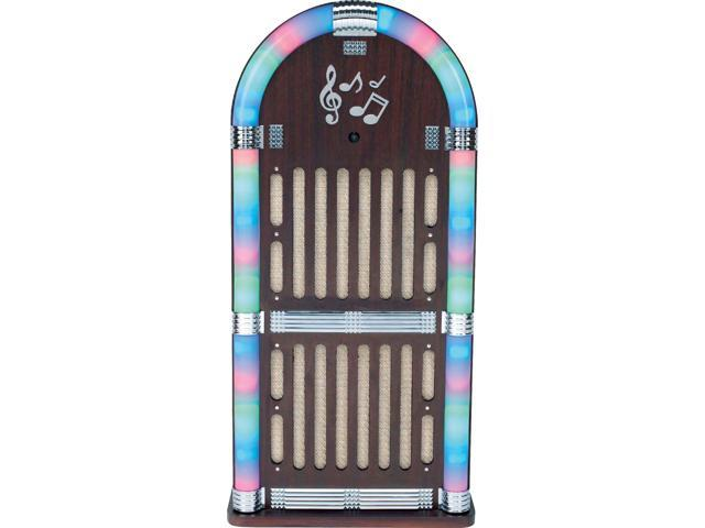 SYLVANIA SRCD806 Classic Wooden Jukebox AM/FM Radio with Bluetooth(R)