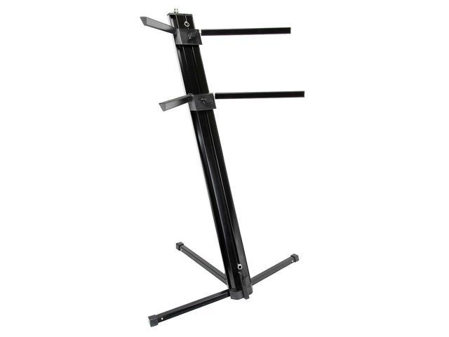 Strukture Professional Two Tier Column Keyboard Stand #SK2T-BK