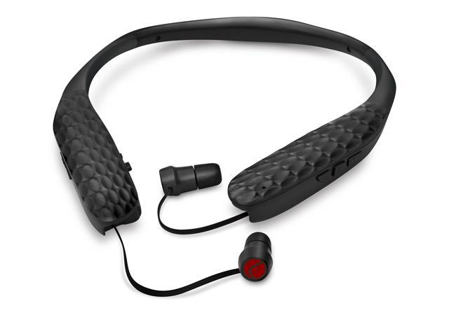 lucid audio amped hearband and wireless tv streamer bluetooth neckband earbuds black. Black Bedroom Furniture Sets. Home Design Ideas