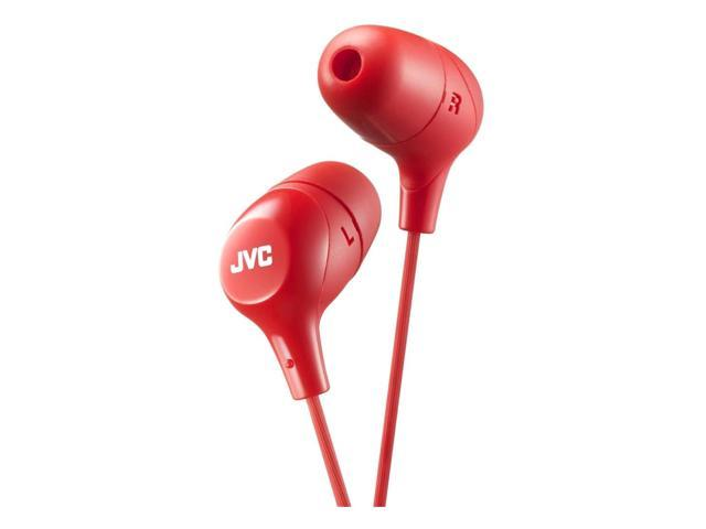 JVC HAFX38R Marshmallow(R) Inner-Ear Headphones (Red)