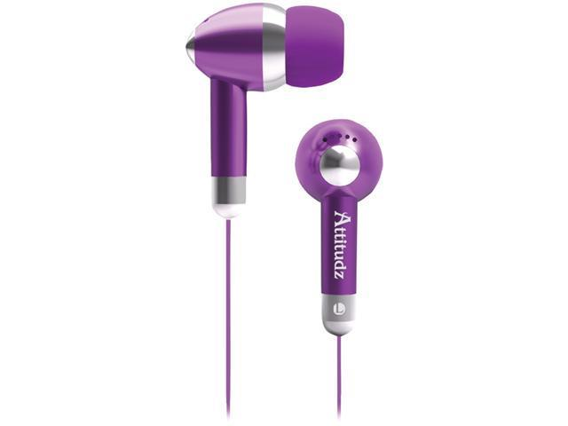 COBY CVE53PUR NOISE-ISOLATION STEREO EARPHONES (PURPLE)
