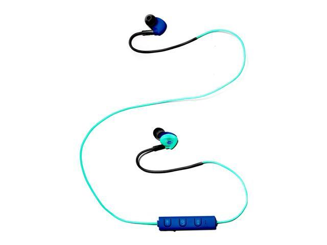 Zunammy Z Budz Wireless Bluetooth Noise Reducing Earbuds Sport Headphones - Teal/Blue