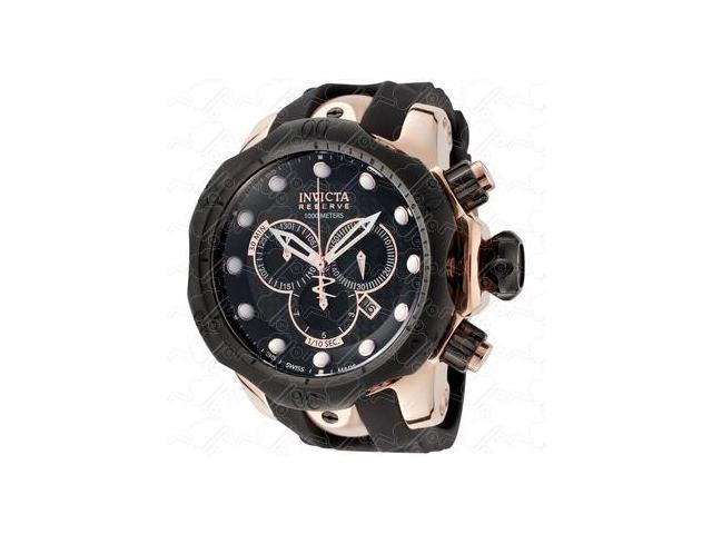 Invicta 0361 Rose Gold Tone Reserve Vemon Swiss Quartz Black Dial 1000M Diver