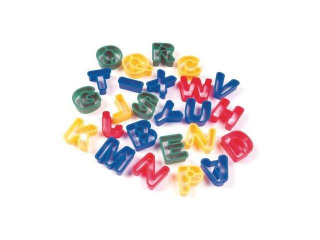 Alphabet Cookie Dough Cutter Kit- 26 Capital Letters (Asst Colors)